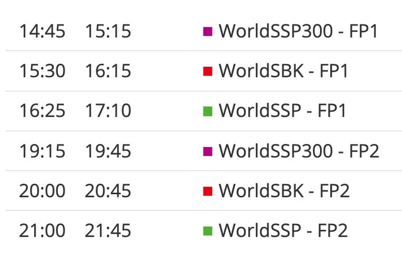 ตารางแข่ง worldsbk สนาม 3-1