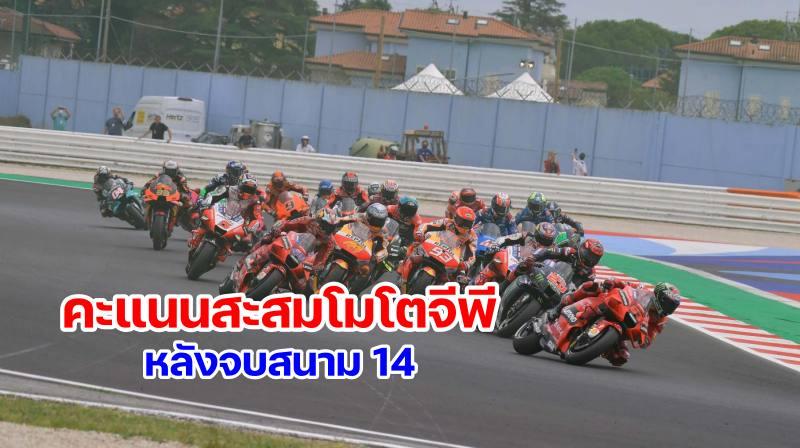 1-motogp 2021 world standing after round 14