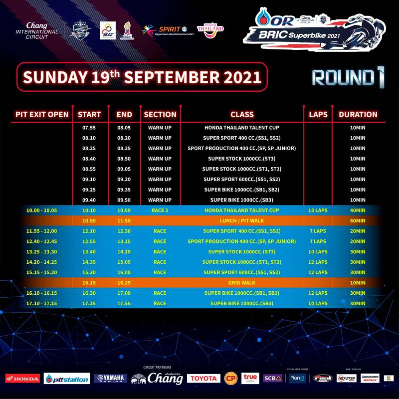 _timetable or bric superbike 2021 round1 -3