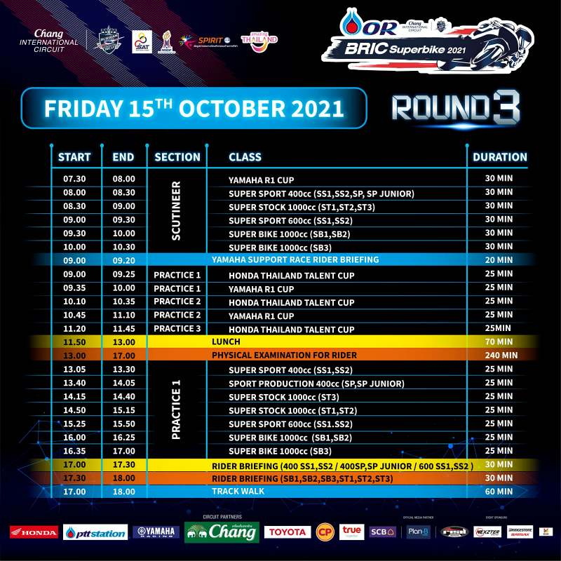 _timetable or bric superbike 2021 round 3-1
